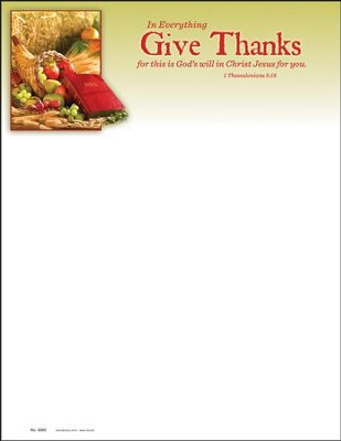 In Everything Give Thanks (1 Thessalonians 5:18) Letterhead, 100  -