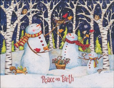 Peace on earth snowman boxed christmas cards 18: debi hron