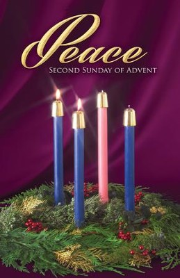 Traditional Wreath Advent Peace Bulletins, 100   -