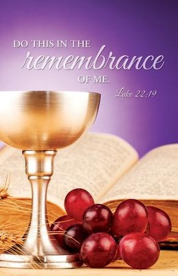 Do This (Luke 22:19) KJV Communion Bulletins, 100   -