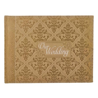 Our Wedding Guest Book, Gold  -