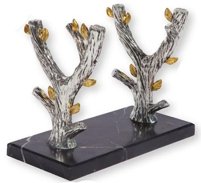 Olive Tree Shofar Stand, Marble Base  -     By: Holy Land