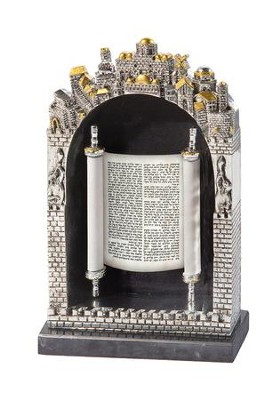Ornate Framed Torah Scroll  -     By: Holy Land