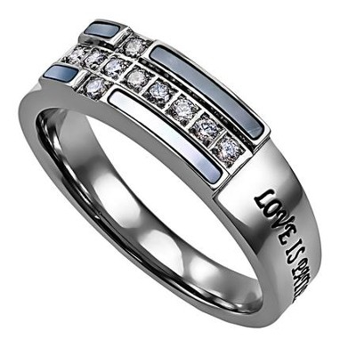 Ensign Ring, Love Never Fails, Size 5  -