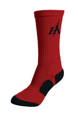 His Armor Sport Socks, Red and Black  -
