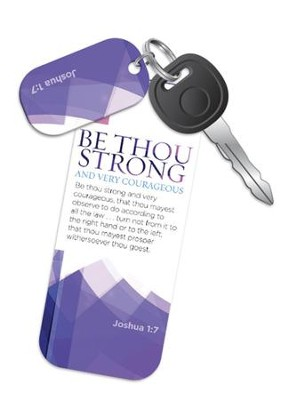 Be Strong and Courageous Truth Tag   -