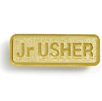 Jr. Usher Badge, Brass  -