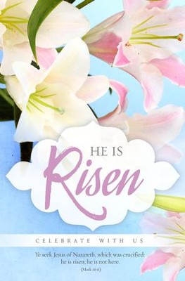Celebrate With Us (Mark 16:6, KJV) Easter Bulletins, 100  -