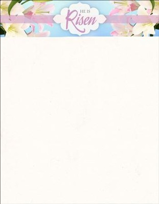Celebrate With Us (Mark 16:6, KJV) Easter Letterhead, 100  -