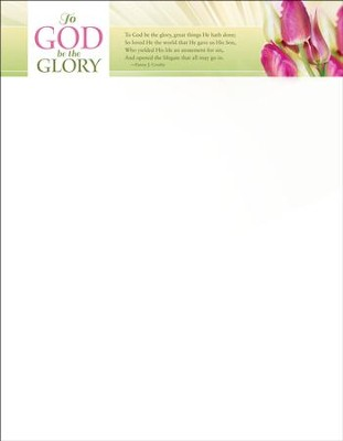 To God Be The Glory Easter Letterhead, 100  -