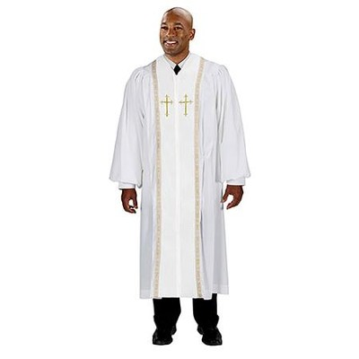 Peachskin Pulpit Robe, White 55  -