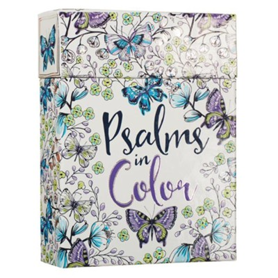 Psalms In Color, Coloring Cards, Box of 44  -