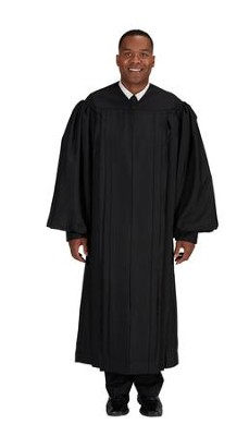 Plain Front Pulpit Robe, Black 57  -