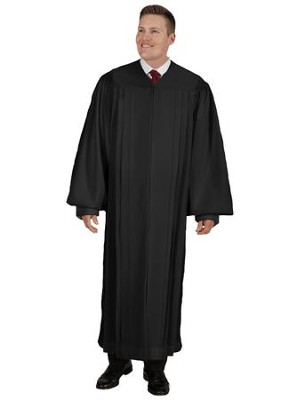 Plain Front Pulpit Robe, Black 59  -