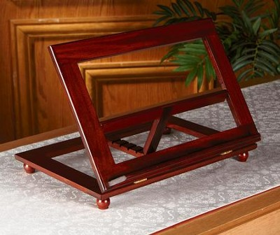 Adjustable Wood Bible Stand, Walnut Finish  -