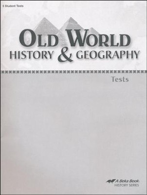 Abeka Old World History & Geography Tests    -