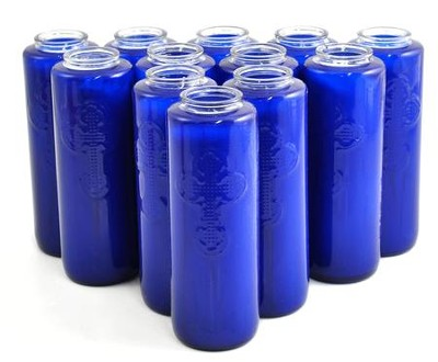 6-Day Gleamlite Devotional Candles, Blue, Box of 12  -