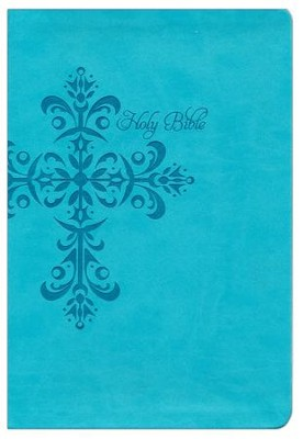 NKJV Giant Print Reference Bible, Teal LeatherTouch,   Custom  -