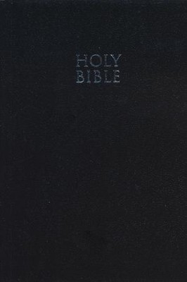 NKJV Compact Text Bible--softcover, black, custom black letter edition  -