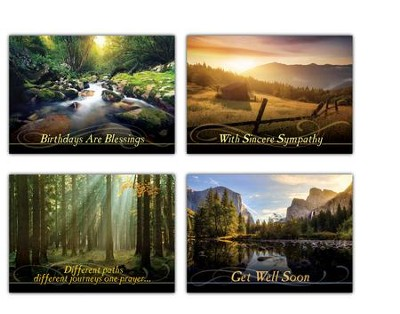 Screen reflections kjv box of 12 all occasion cards