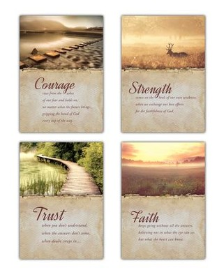 Trusting In Him (KJV) Box of 12 Empathy Cards  -