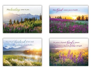 A New Morning (KJV) Box of 12 Get Well Cards  -