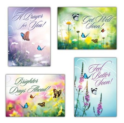 Wishing You Well (KJV) Box of 12 Get Well Cards  -