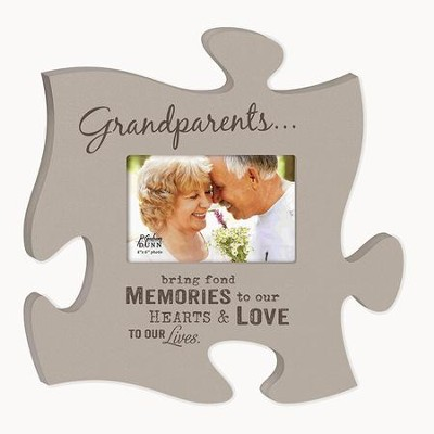 Grandparents, Bring Fond Memories, Puzzle Photo Frame  -