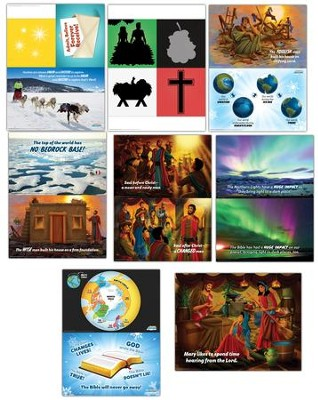 Operation Arctic VBS: Pre-Primary Illustration Posters (set of 8)   -
