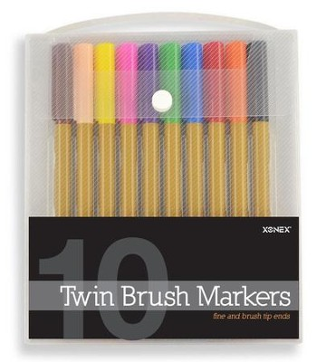 Twin Brush Markers (10 piece set)  -