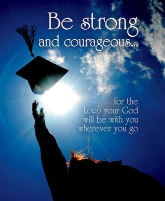 Be Strong and Courageous Tossing Cap (Joshua 1:9, NIV) Large Bulletins, 100  -
