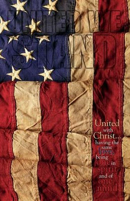 United We Stand Flag (Philippians 2:1-2, NIV) Bulletins, 100  -