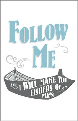 Fishers of Men Boat Artwork (Matthew 4:19, KJV) Bulletins, 100  -