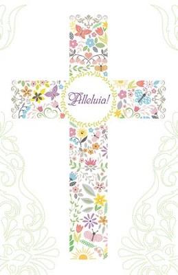 Easter Cross Alleluia! Bulletins, Pack of 50  -