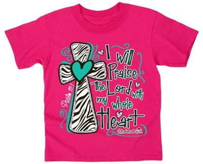 Praise the Lord Shirt, Pink, Youth Large   -