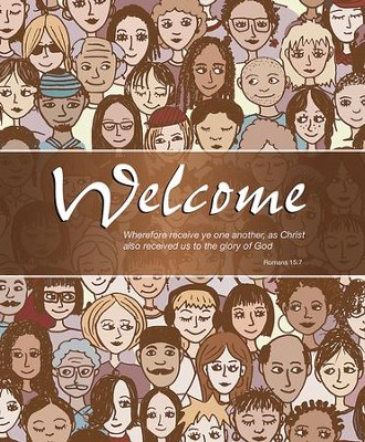 Welcome Crowd (Romans 15:7, KJV) Large Bulletins, 100   -
