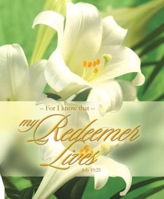 My Redeemer Lives (Job 19:25) Large Bulletins, 100  -
