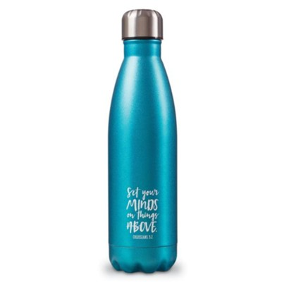 6245adf367 Set Your Minds On Things Above, Hot & Cold Insulated Bottle, GreenSet Your  Minds