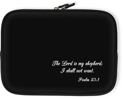 The Lord Is My Shepherd Bible Cover, Black, Large  -
