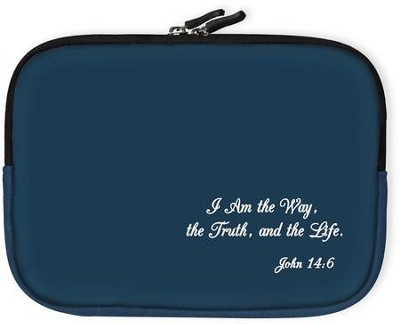 I Am the Way Bible Cover, Blue, Small  -