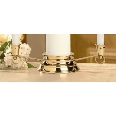 Curled Unity Candle Holder, Gold (12 inch long)  -