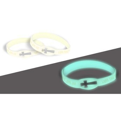 Light the Night, Glow-In-the-Dark, Silicone Bracelet  -