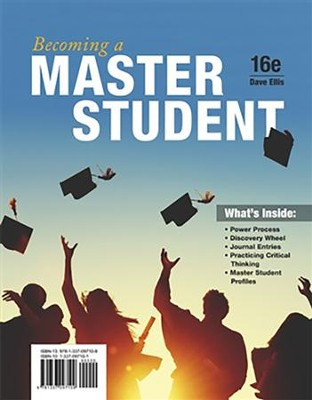 Becoming a Master Student, 16TH edition   -     By: Dave Ellis