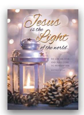jesus is the light box of 12 christmas cards niv - Jesus Christmas Cards