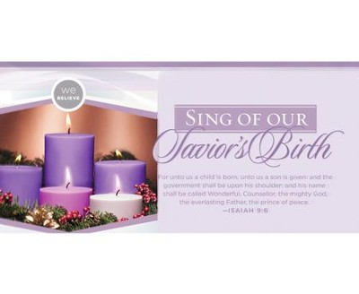 We Believe Sing of our Savior's Birth Advent Offering Envelopes, 100  -