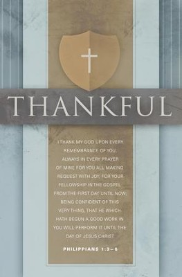 I Thank My God (Philippians 1:3-6, KJV) Bulletins, 100  -