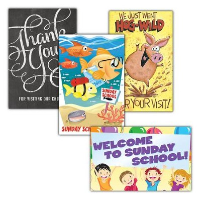 Thanks for Visiting Kids Value Pack Postcards, 100  -