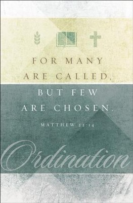 Ordination (Matthew 22:14, KJV) Bulletins, 100   -