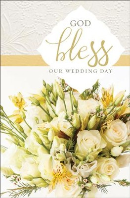God Bless Our Wedding Day Bulletins 100