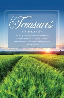 Treasures (Matthew 6:20, KJV) Bulletins, 100   -
